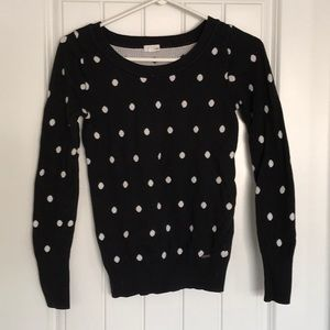 Black Polka Dot Long sleeve shirt size small